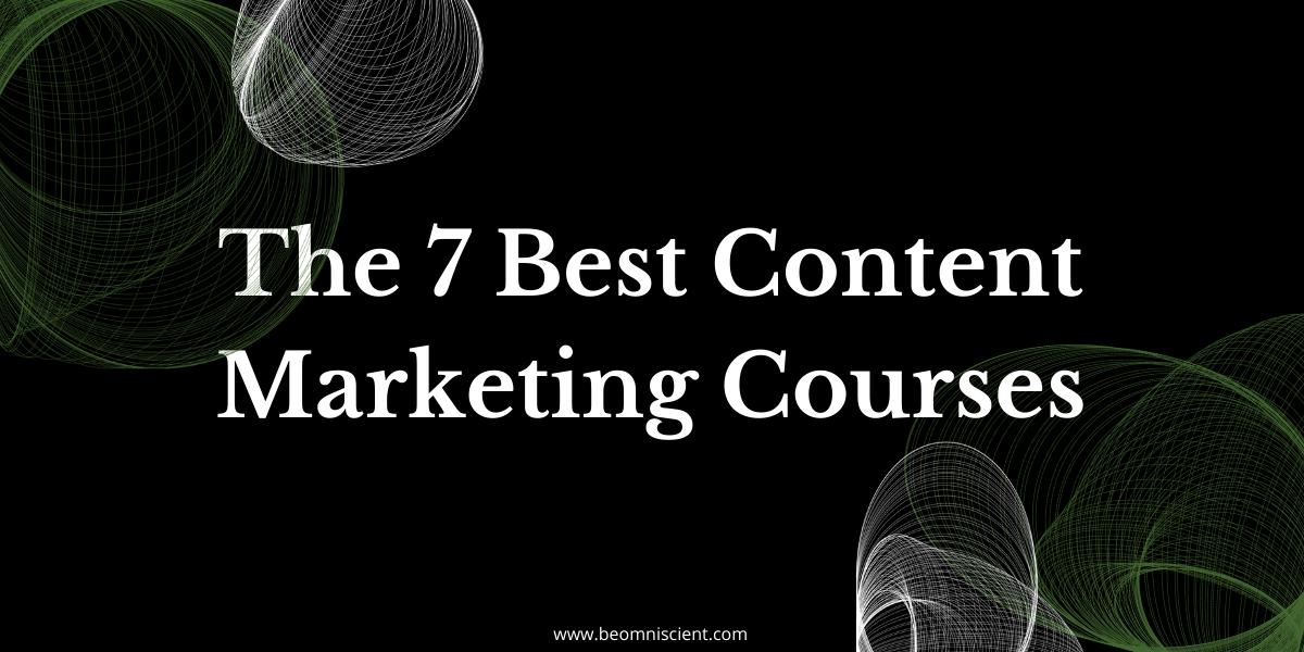 omniscient digital best content marketing courses