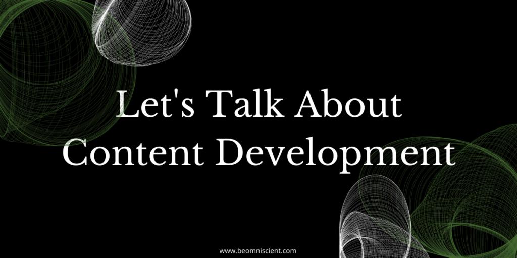 content development content marketing
