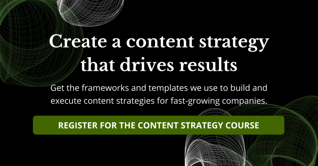 content strategy course