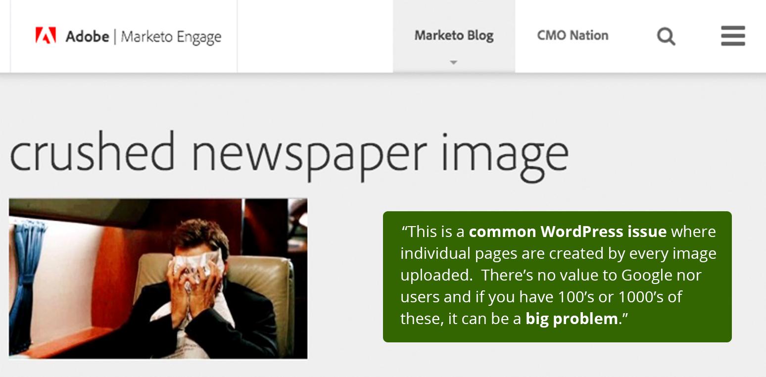 wordpress image seo problem