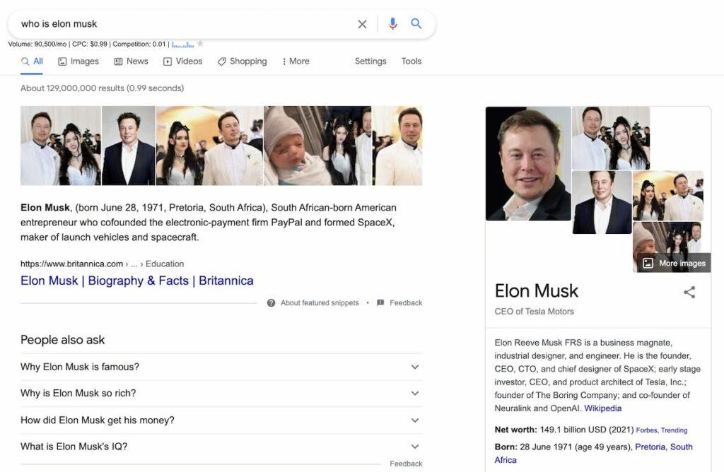 elon musk search