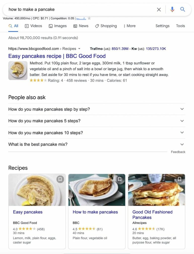 how to search - informational intent