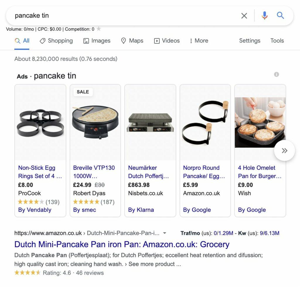 pancake tin search query