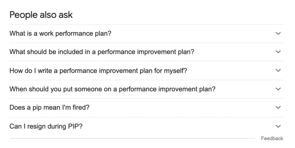 SEO - people also ask questions