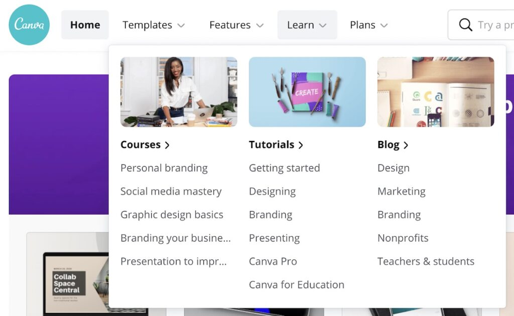 canva content marketing template example