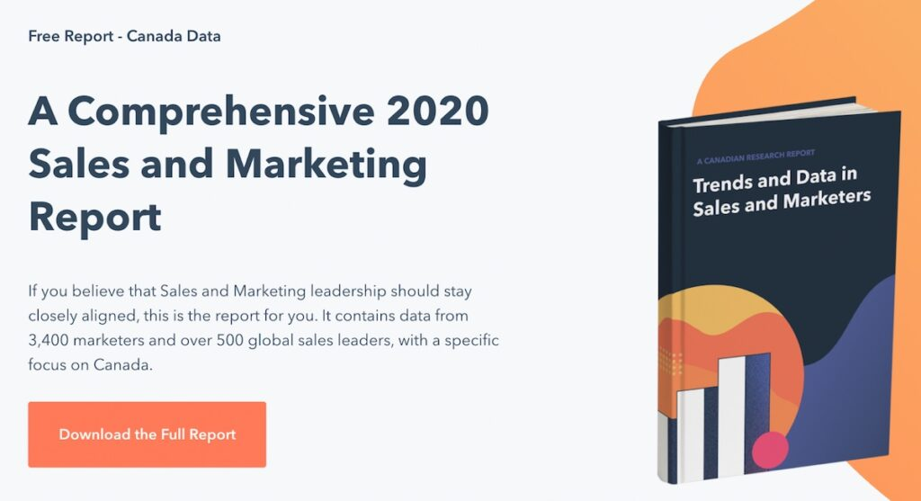 hubspot marketing research report example