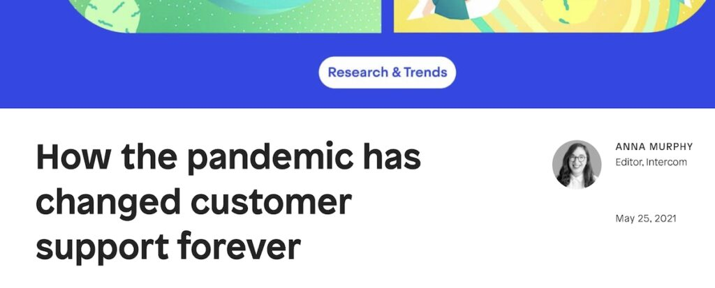 intercom timely pandemic blog post example
