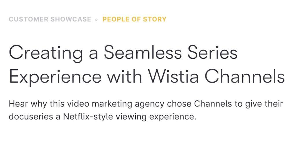 wistia customer success story example